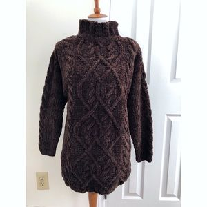 Express oversized cable knit sweater